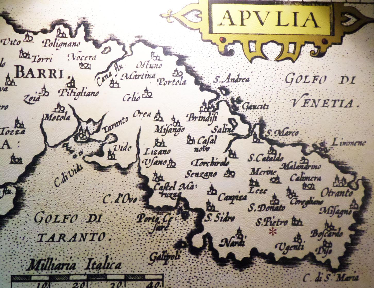 antica mappa del Salento