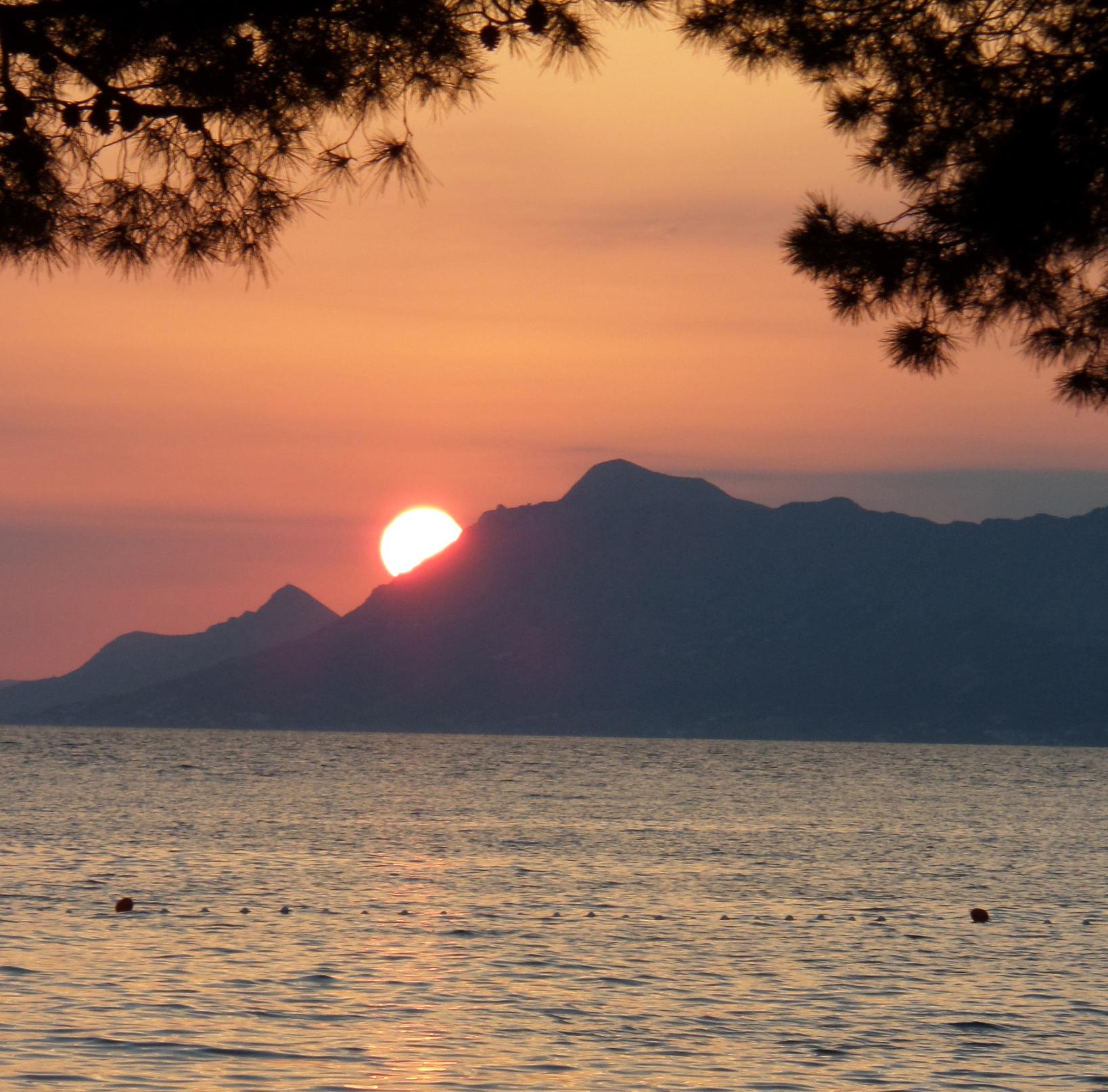 Tramonto sulla costa adriatica