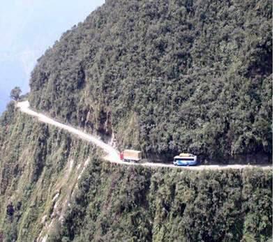 Viaggi rischiosi... la Carretera de la Muerte in Bolivia....