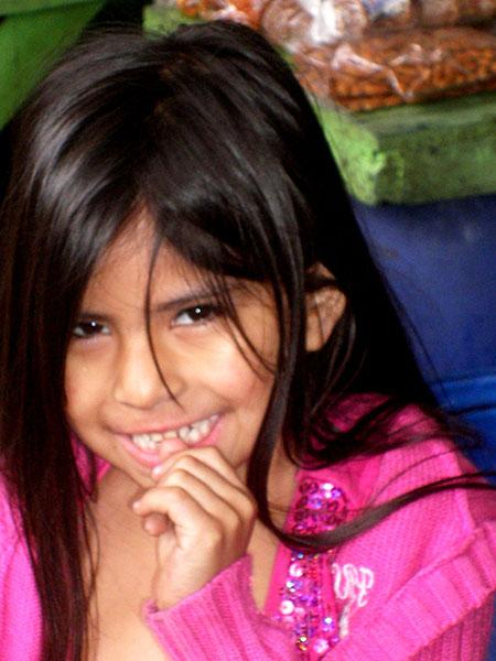 Gente, Cile, ragazzina a Iquique rid