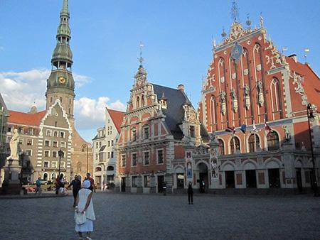 Lettonia, Riga, piazza Municipio