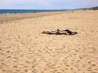 Spiaggia sullo Stretto (verso Huelva)
