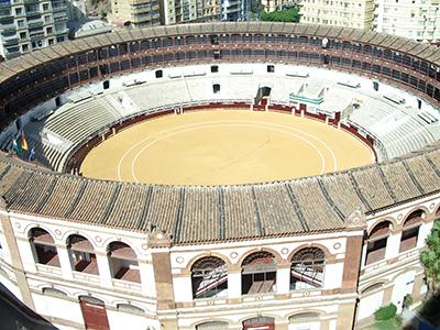 La plaza de toros di Malaga