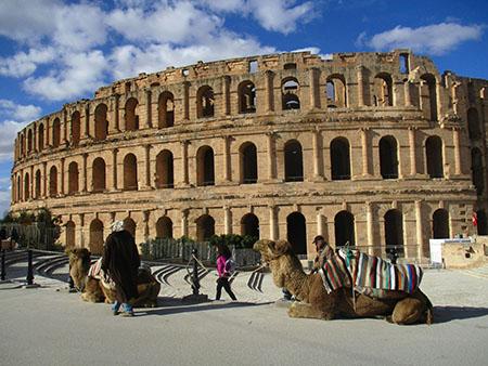 Tunisia, El Djem (+ piccolo ma -forse- + bello del Colosseo..)