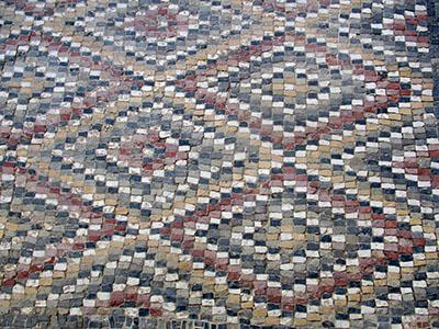 Museo di El Djem, che meraviglia questo mosaico romano (disegno di Versace o Missoni?...).