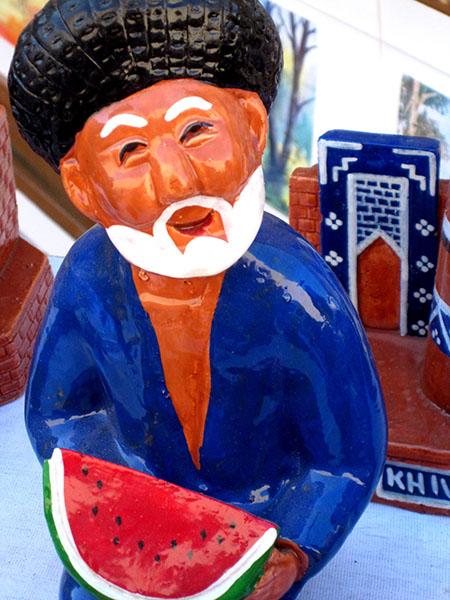 Uzbeko e l'anguria