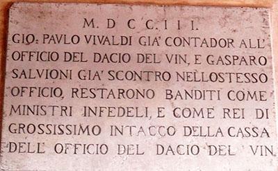 Un Gian Paolo (Vivaldi) che rubacchiava (ma la Serenissima castigava, gente seria, allora...)