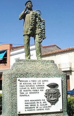 Aceuchal, monumento al venditore di aaglio (un pensiero tanto umile quanto delicato...)