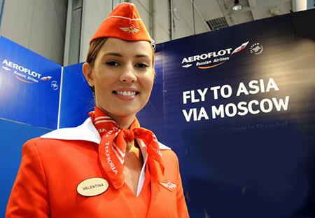 Valentina, (gran) bella hostess dell'Aeroflot (foto del mè amìs Piero Oliosi)
