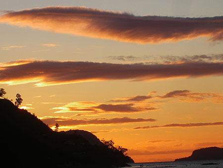 cile reg lagos tramonto da isola llancahue 3