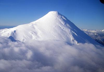 Vulcano Osorno, dal volo Hornopiren - Puerto Montt