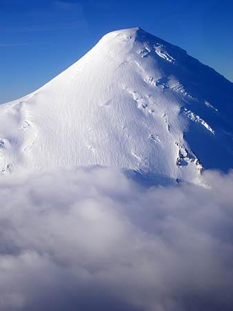 Regione dei Lagos, il vulcano Osorno dall'aereo