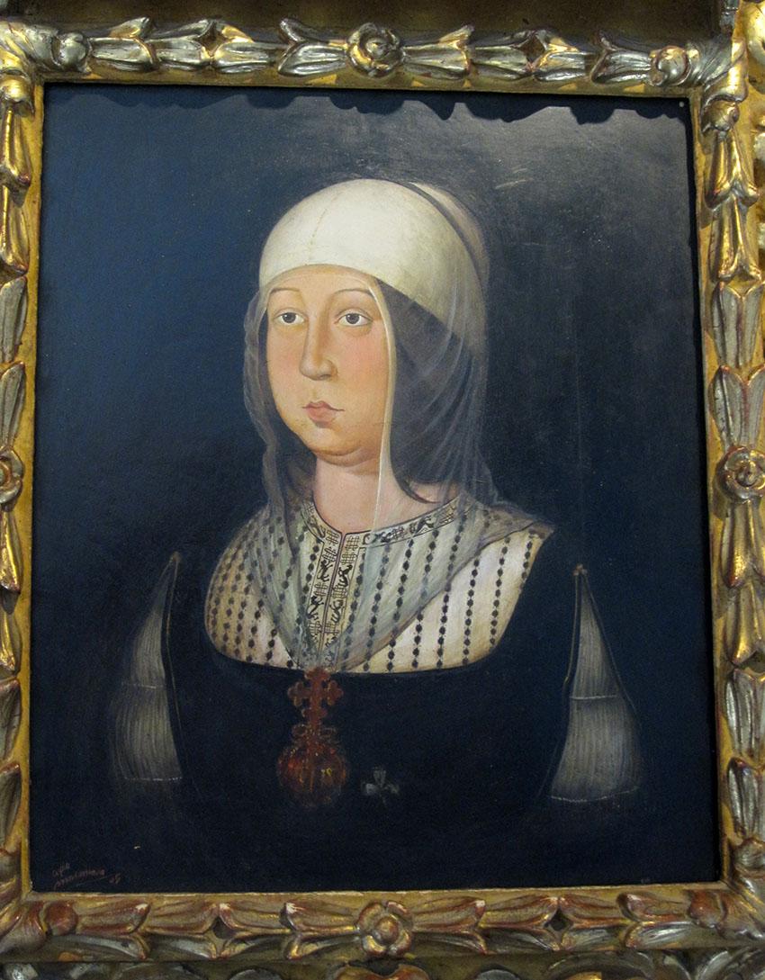 La regina Isabella di Castiglia (protettrice di Colòn)