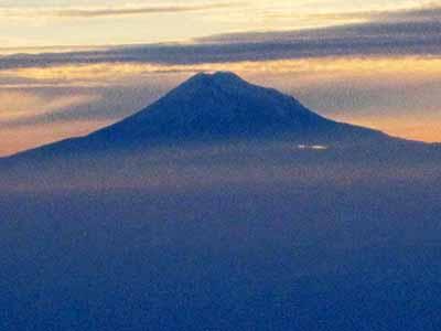 Il vulcano Cotopaxì dall'aereo