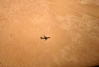 aereo sul deserto ... da cui la barzelletta del cammello ....