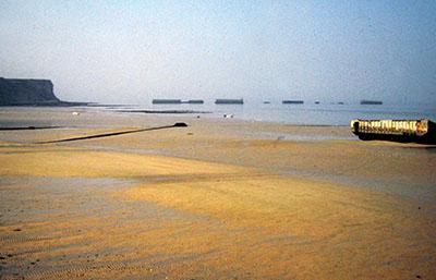 Luogo dello Sbarco nella vicina Normandia