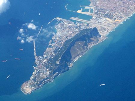 Gibilterra dall'aereo