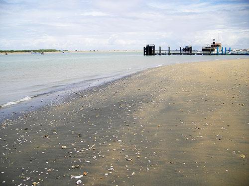 Il Guadalquivir alla foce, a Sanlucar de Barrameda