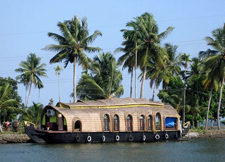 Houseboat nelle Backwaters