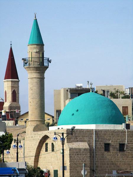 Acri/Akko, minareto e campanile