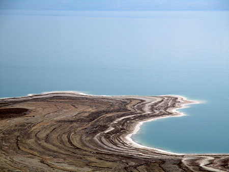 Costa occidentale del Mar Morto (quanto sale sulle rive....)