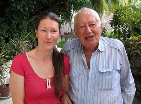 Una bella collaboratrice e (a... destra) Gian Piero Bellazzi, patron del Nika