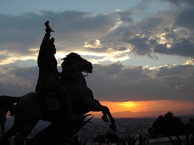 mex zacatecas cerro de la bufa statua pancho villa rid