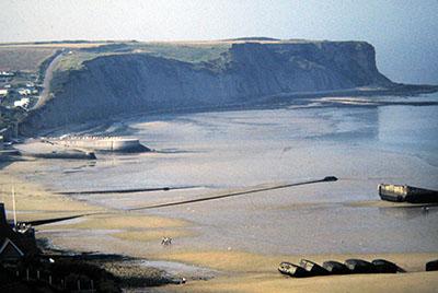 La storica spiaggia dello sbarco del 6 giugno 1944