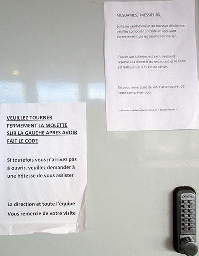 Porta di Cesso (quasi Cassaforte al Geant Casino di Cagnes sur Mer (e se te la fai adosso e hai sbagliato combinazione son cacchi tuoi...)