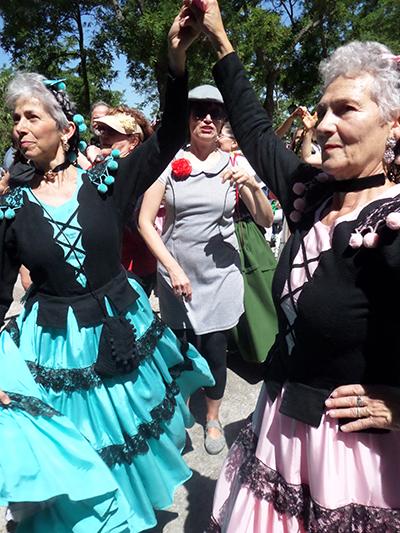 Madrid, Costumi Goyeschi a San Isidro sulla Pradera....