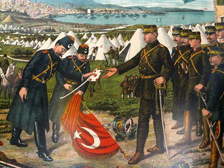 Salonicco, 1912, resa dei Turchi, Museo Marittimo Lithocoro