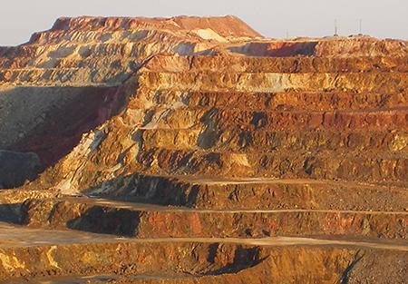 Le minas del Rio Tinto nell'interno della provincia di Huelva