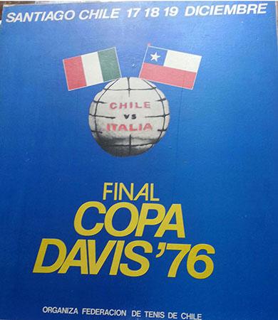 sport tennis chile italia davis 76 cartel da gpb