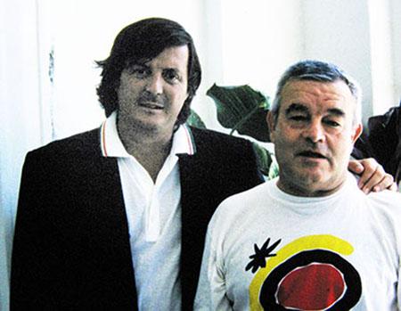 L'autore di questo Amarcord e Adriano Panatta (quello più bello, a sinistra)