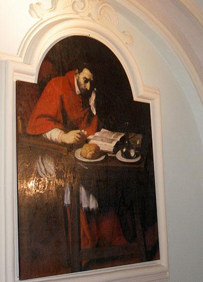 San Carlo nella cappella del castello di Taurasi