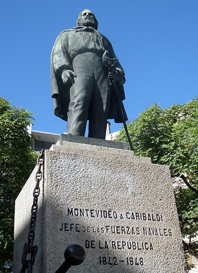 Montevideo, monumento a Garibaldi