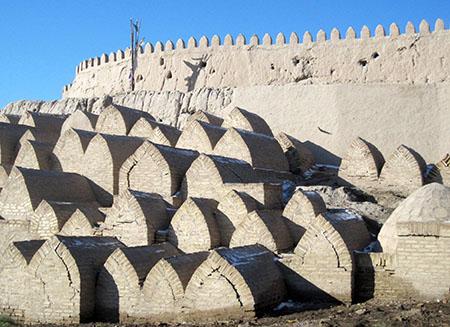Uzbekistan, Khiva, mura e tombe