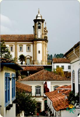 Ouro Preto, antico Brasile quando capitale era Bahia...