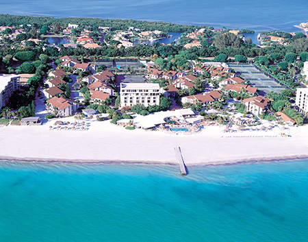 """The Colony"" (grande tennis) a Longboat Key, Florida, sede del Torneo Hackers di Bud Collins"